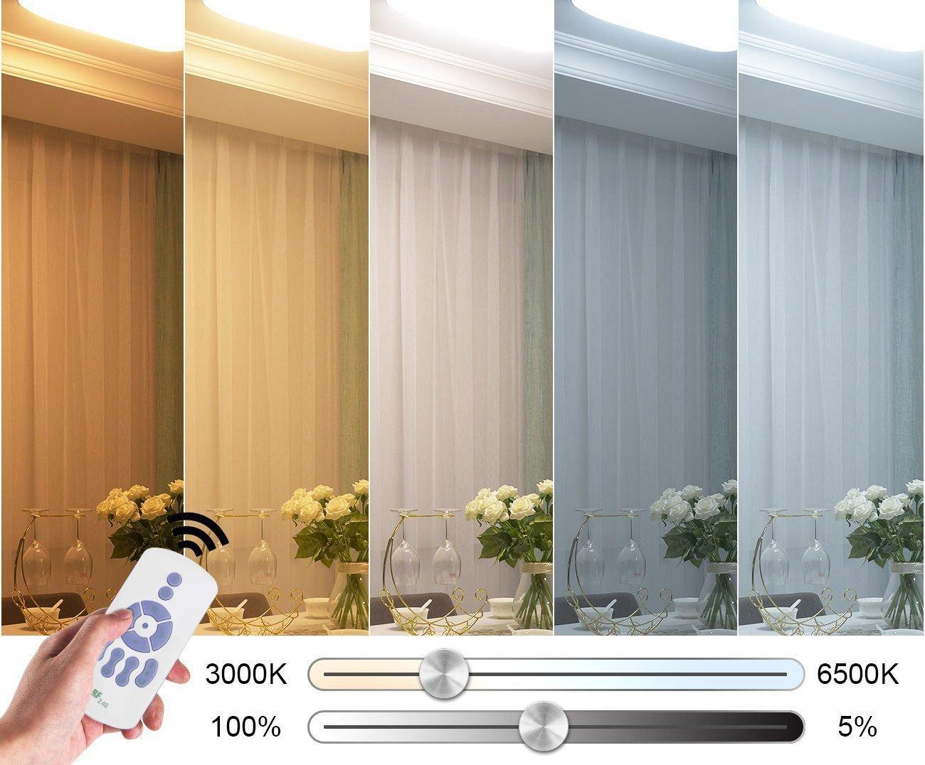 Plafoniere Ultra Sottile Salotto : Starryol 36w plafoniera led moderna lampada da soffitto disimpegno