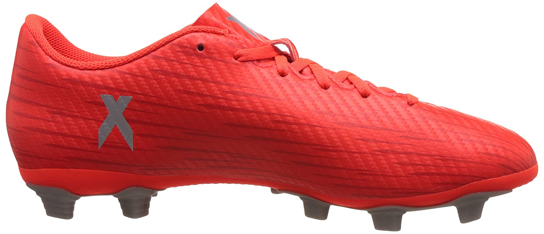 adidas X 16.4 FxG, Entraînement de Football Homme, Rouge (Solar Red/Silver Met,/Hi-res Red), 44 2/3 EU