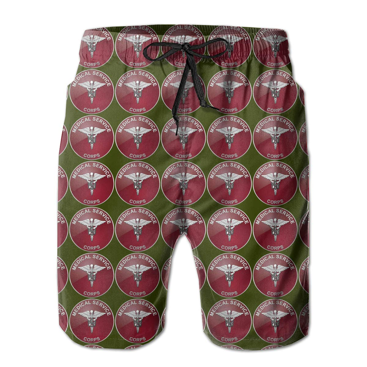 AIYIZHEN Medical Service Corps Mens Beach Shorts Swim Trunks Swimsuit