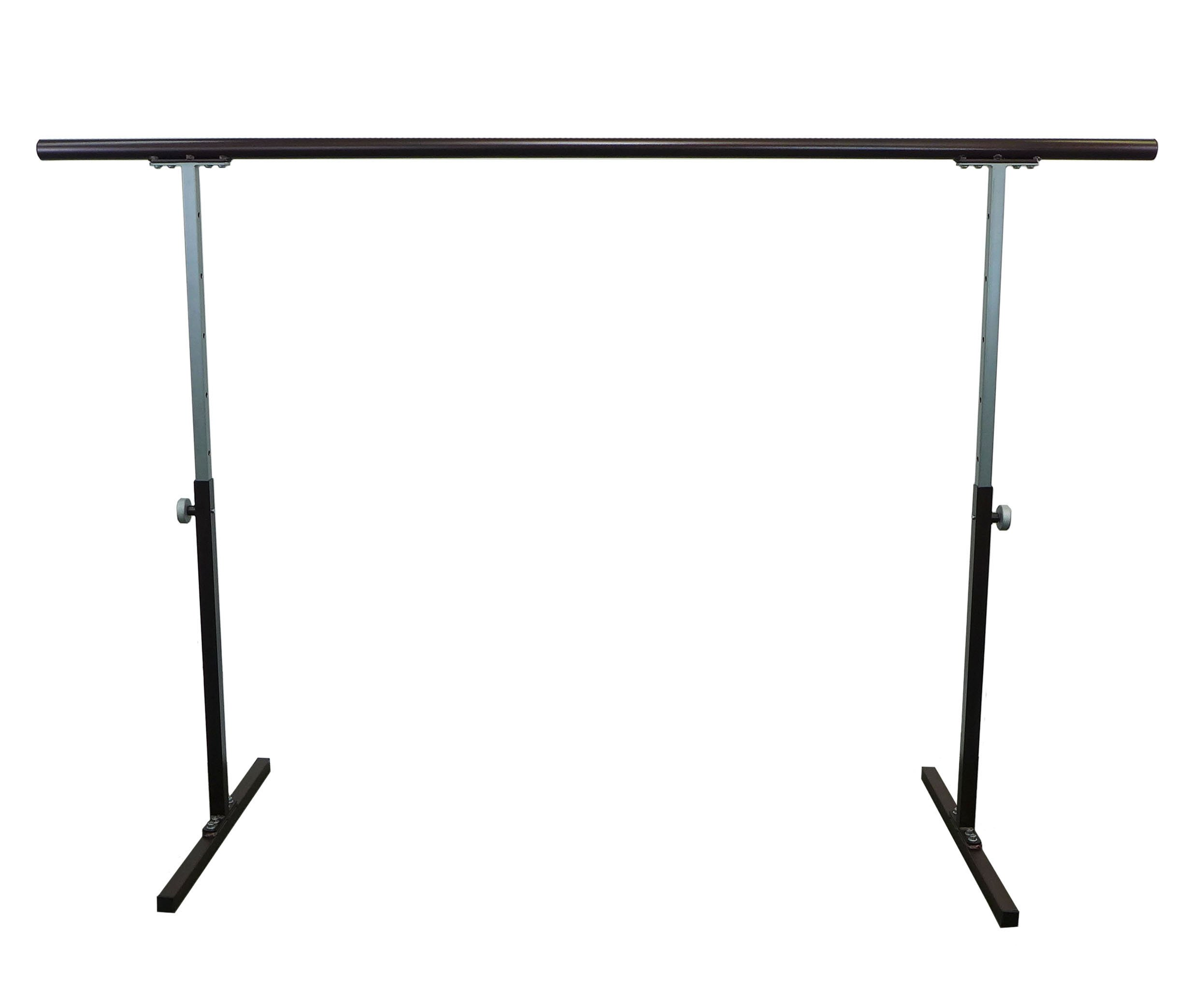 Softtouch Ballet Barre 6.5ft Portable Dance Bar - Adjustable Height 31'' - 49'' - Freestanding Stretch Barre 80''