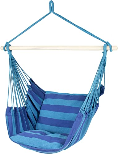 Best Choice Products Portable Hanging Cotton Hammock Rope Chair Swing