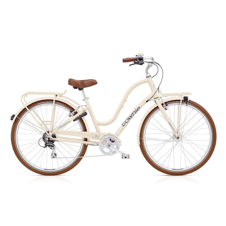 Electra Townie Commute 8D EQ Damen Fahrrad 28 Zoll Beach Cruiser Rad Beleuchtung, 54427, Design Beige - Cream