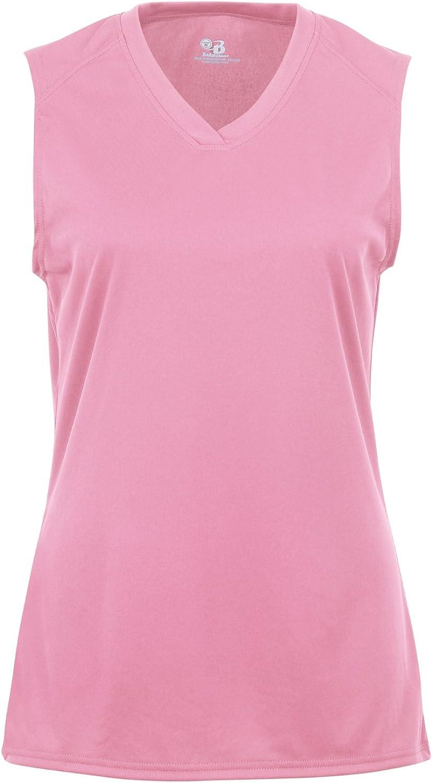 Badger Sportswear Women's B-Dry Sleeveless Performance Tee, Pink, Medium