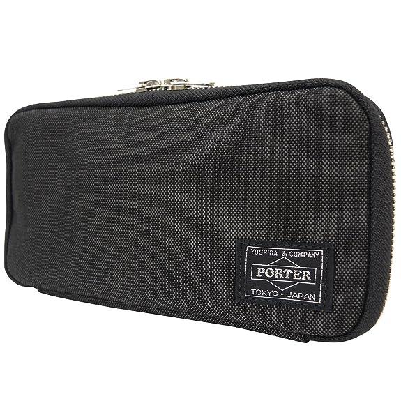 5dbbe256f294 Amazon | (ポーター) PORTER ラウンドファスナー長財布 [スモーキー] 592-09989 1.ブラック | PORTER(ポーター)  | 財布