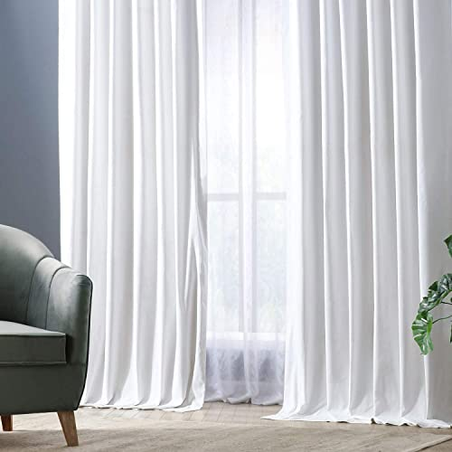 HPD Half Price Drapes PRCT-BO09B-108 Solid Cotton Blackout Curtain 1 Panel