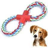 VIEWLON Juguetes Para Perros - Cuerdas XL de Juguete para Raza Pequeños/Medianos, Forma 8 Resistentes Juguetes Perros…