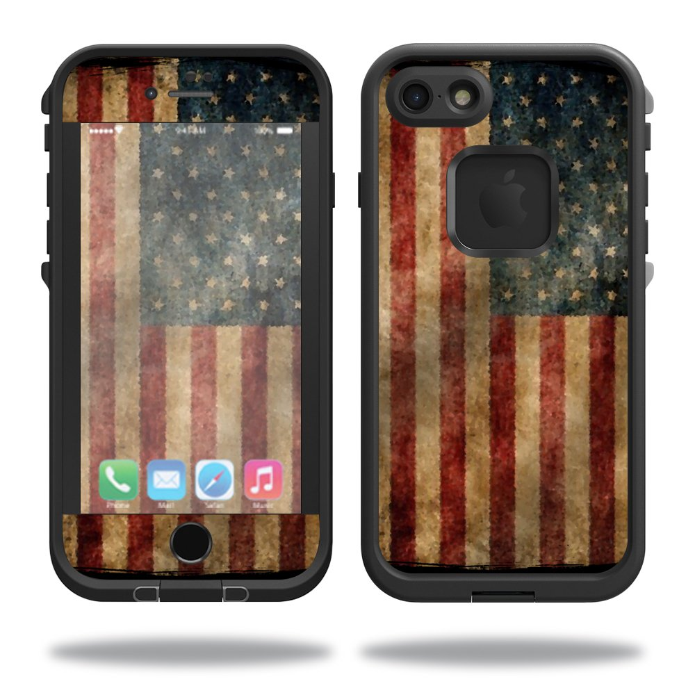 Amazon com mightyskins protective vinyl skin decal cover for lifeproof iphone 5 5s se case fre case wrap sticker skins vintage flag cell phones