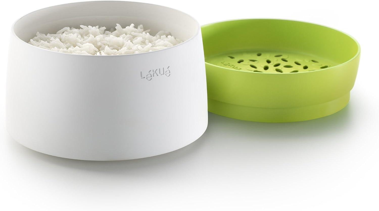 Lékué Recepiente para cocinar arroz, Silicona, Verde, 13.1 cm: Amazon.es: Hogar
