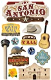 Paper House Productions STDM-0232E 3D Cardstock Stickers, San Antonio (3-Pack)