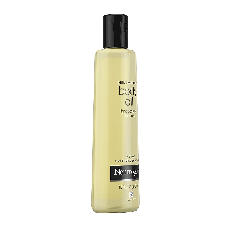 Neutrogena Lightweight Body Oil for Dry Skin, Sheer Body Moisturizer in Light Sesame Formula, 16 fl. oz: Prime Pantry