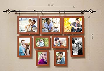 Buy Art Street Chandeliers Hanging With Rod Pure Wood Photo Frame