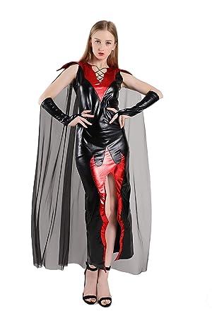 Halloween Adulto De Imitación De Cuero De Bruja Cos Traje ...