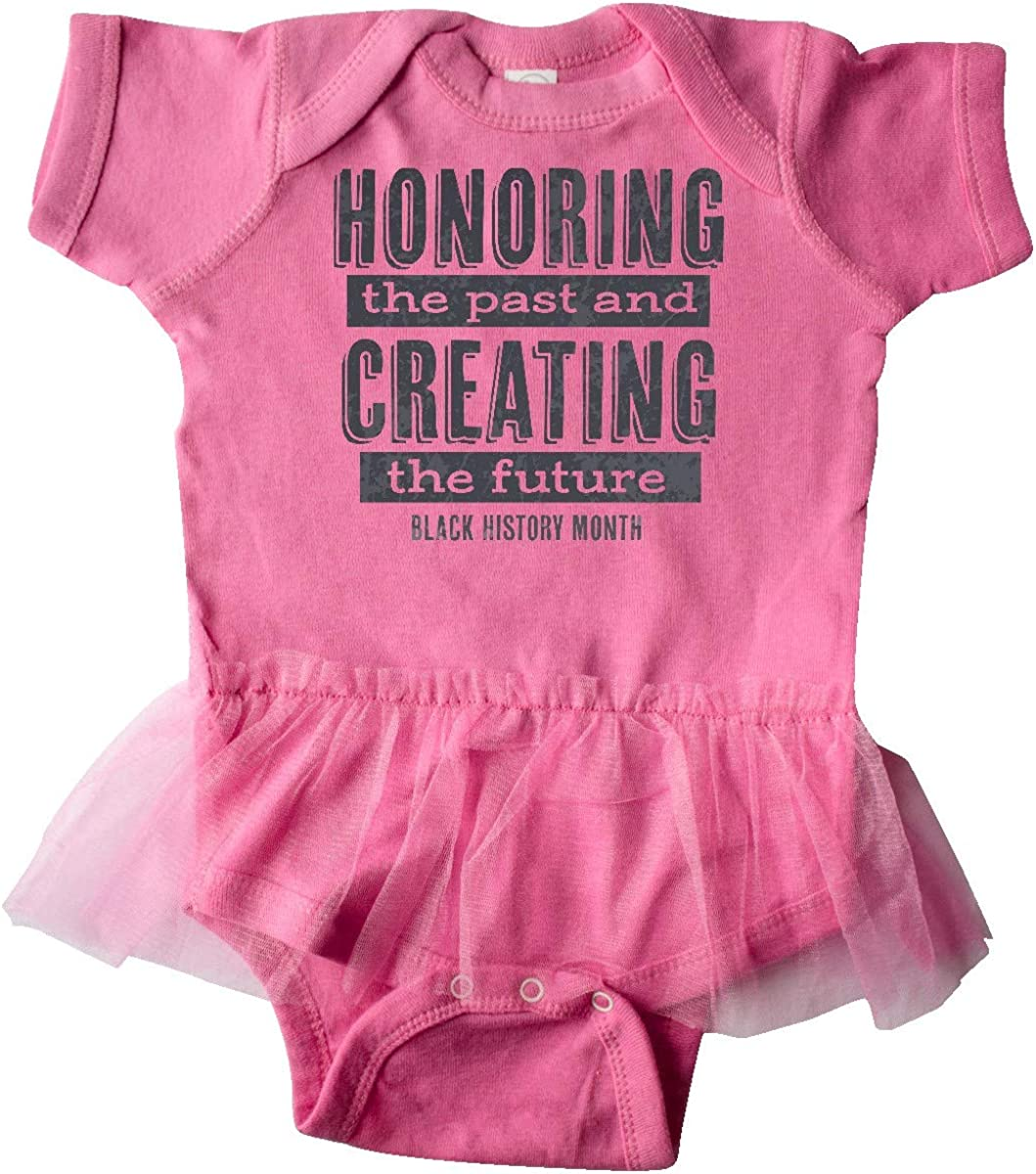 inktastic Honoring The Past and Creating The Future Black Infant Tutu Bodysuit