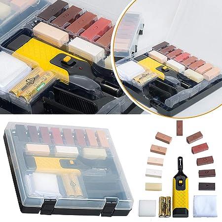 19pc Laminate Floor Worktop Repair Kit Wax System Sturdy Case