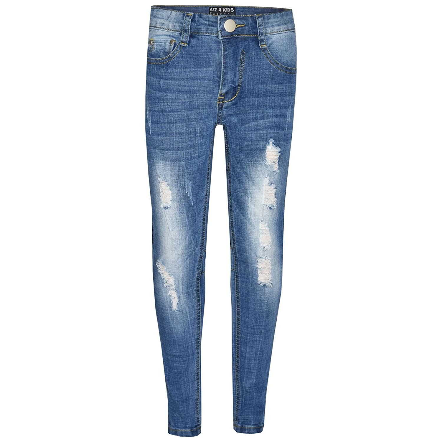 A2Z 4 Kids® Kids Boys Skinny Jeans Designer's Denim Ripped Stretchy Pants Fashion Trousers New Age 3 4 5 6 7 8 9 10 11 12 13 Years