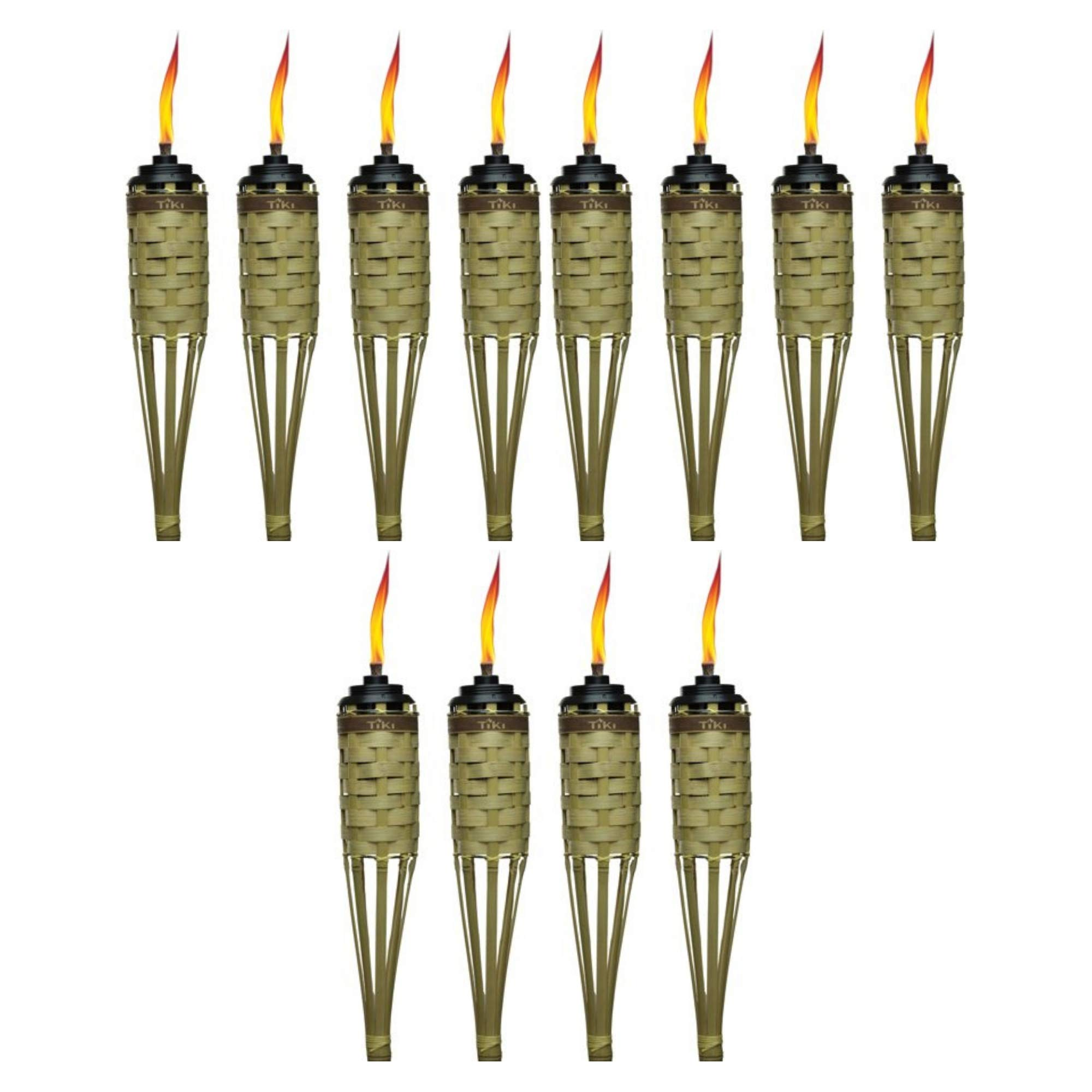 Tiki Brand 57'' Barbados Bamboo Torch with Easy-Pour System, Natural, Pack of 12 by Tiki (Image #1)