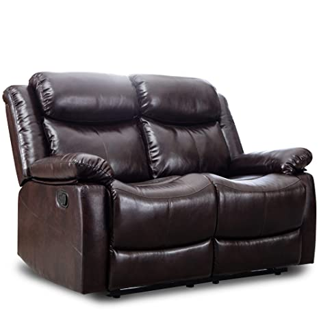 Pleasing Harper Bright Designs Loveseat Recliner Manual Reclining Sofa Seat Classic Recliner Brown Leather Couch Sofa Set For Living Room Pabps2019 Chair Design Images Pabps2019Com