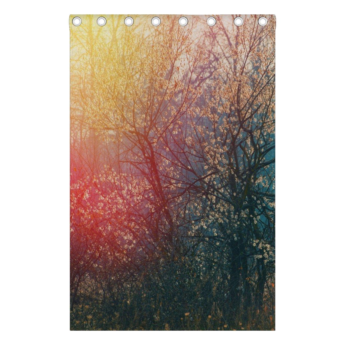 Fenster Vorhang Luxus Herbst Forest Floral Print isoliert Dick Super Soft Polyester Stoff Home Decor mit /Öse 2/Platten f/ür Schlafzimmer Wohnzimmer Badezimmer K/üche 213,4/x 139,7/cm