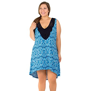 d5e2a62c7d146 Image Unavailable. Image not available for. Color  Dotti Tie Dye Twist  Women s Plus Size Cover-Up From