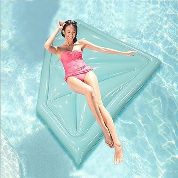 YGJT Flotador Hinchable Forma de Diamante para Adultos Azul 175*108cm: Amazon.es: Juguetes y juegos
