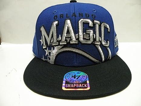13937da3fa1 Image Unavailable. Image not available for. Color  47 Brand NBA Orlando  Magic Blue Black ...