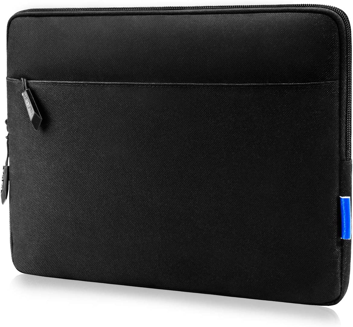 ONE LIFE 11.5-12.3 Inch Laptop Sleeve Compatible with MacBook Air 11 Inch, Dell HP Chromebook Surface Pro Lenovo Acer, Protective Case with Accessory Pocket(11.5-12.3 Inch, Black)
