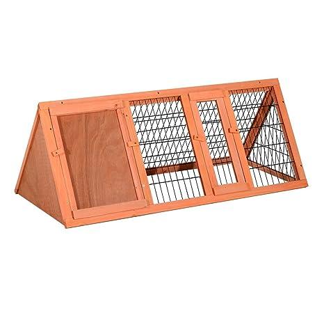 Jaula Conejo Conejera Hamster Madera Metal 118x50x45cm Ratones Rata Chinchilla