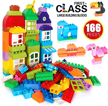 Big Building blocks 65 Pcs Big Toy Building Blocks Lego In A Storage Bucket