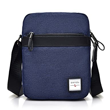 Men Small Vintage Oxford Messenger Bag Cross Body bag Pack Organizer  Satchel Bag Durable Multi- b7bcaf703d4f2