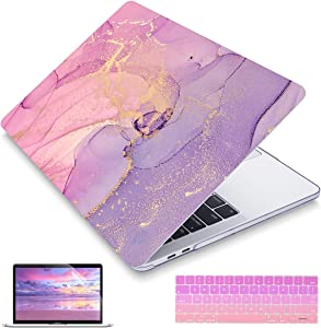 """May Chen MacBook Pro 13"""" (2019/2018/2017/2016) Models: A2159 A1989 A1706 A1708, Plastic Hard Shell for MacBook Pro 13 inch with Touch Bar and Retina Display, Multicolored Marble"""