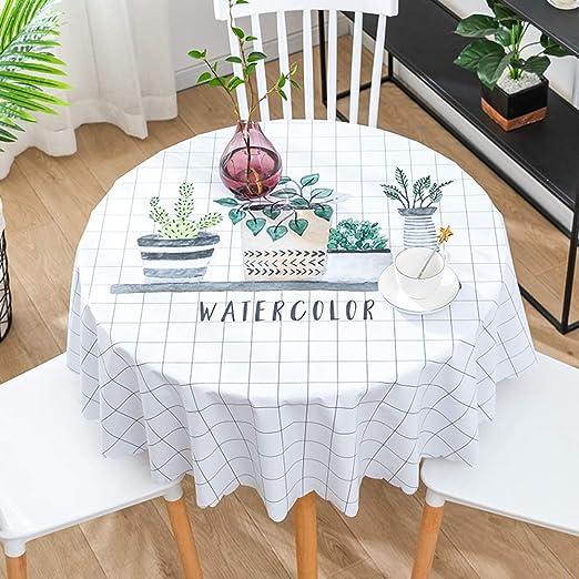 CAREXY Mantel Redondo PVC,plastico Vinilo Antimanchas Impermeable Resistentes Al Calor Mantel De Hule para Comedor Jardín Salón Banquete,B-60cm: Amazon.es: Hogar