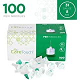 Care Touch Insulin Pen Needles 31 Gauge, 5/16 Inches, 8mm - 100 Pen Needles