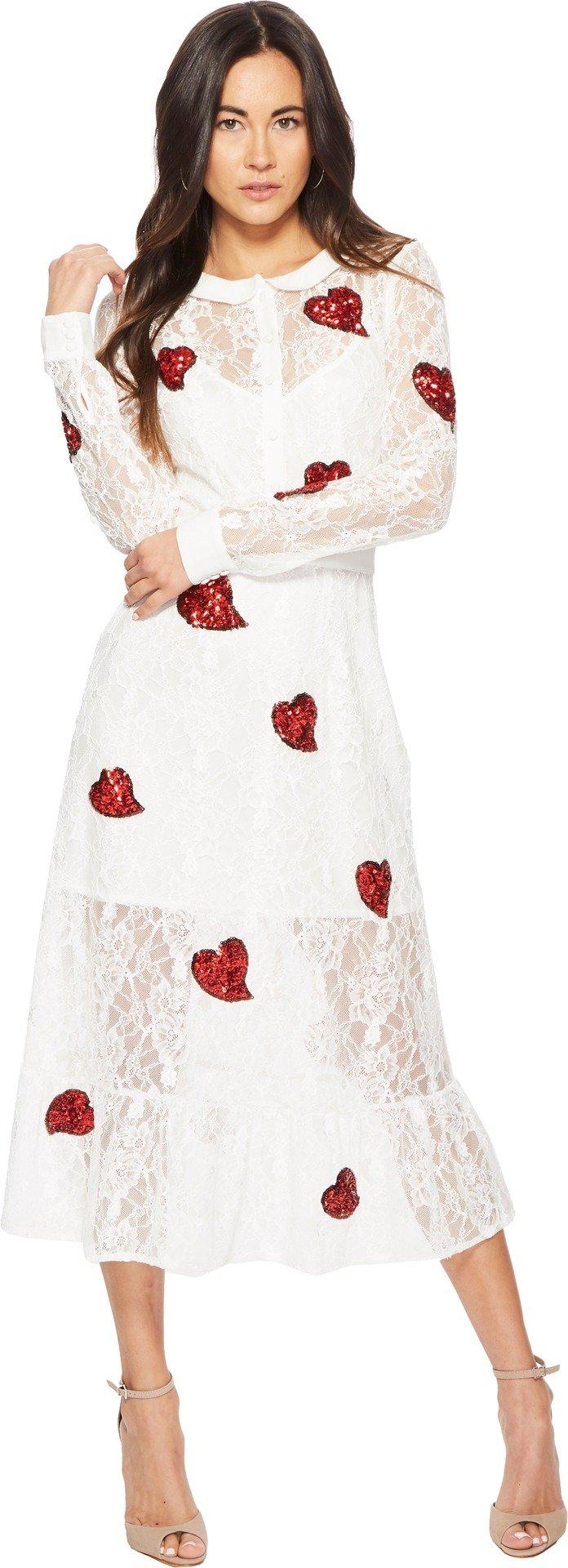 For Love & Lemons Women's LA Zosia Midi Dress White X-Small