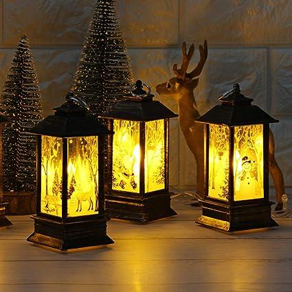 Christmas LED Light Lamp Hanging Lantern Xmas Party Home Festival Decor Gifts