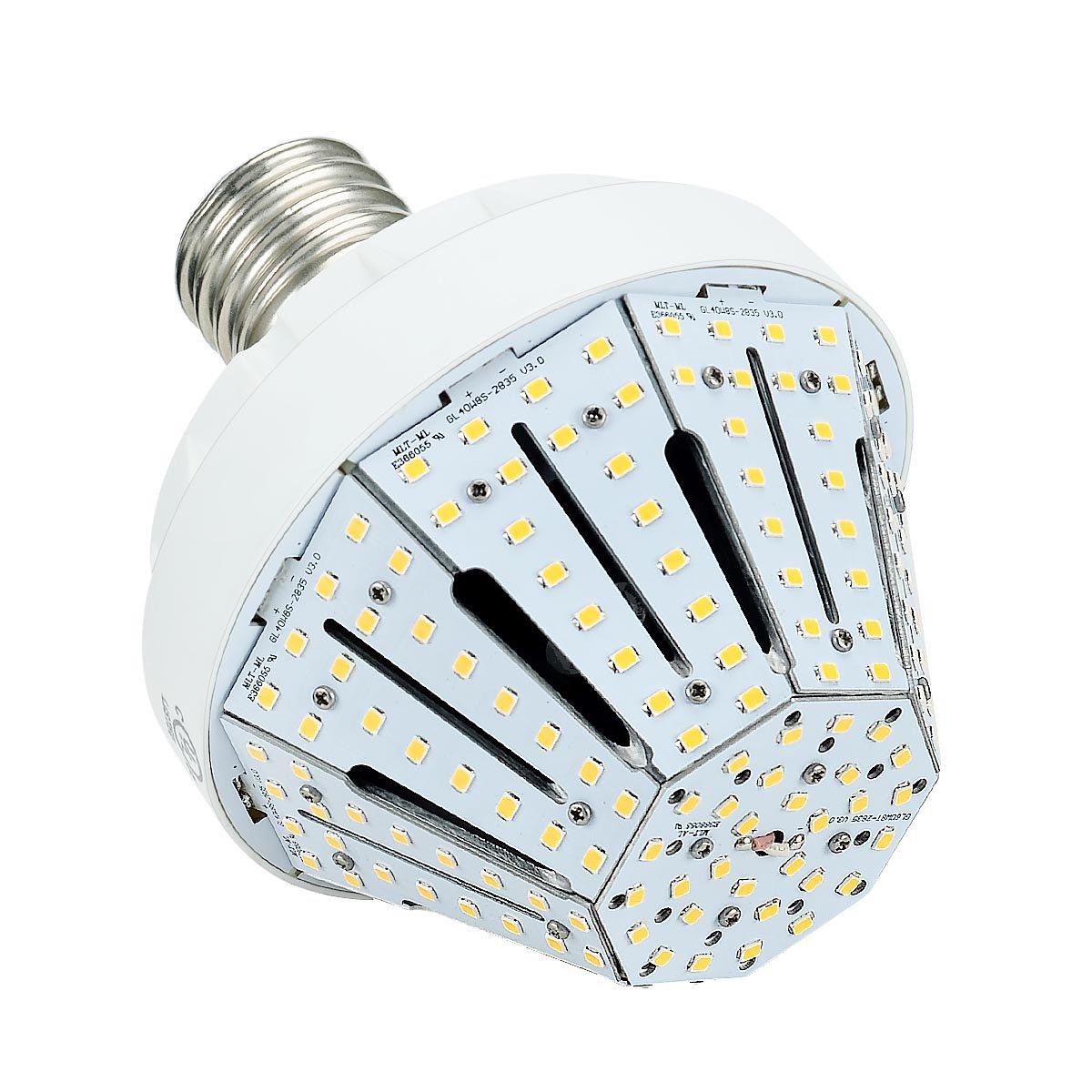 Phenas 40 W LEDトウモロコシ電球、Large Mogul e39ベース、3000 K、360 ° Street /庭照明交換用for 200 W 400 Wメタルハロゲンバルブに、HID、CFL、MH、HID、HPS ( ul- listed ) E39-AW81040W-3K 1 B073QJG3ZD 3000K
