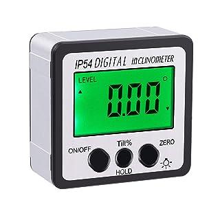 Leepesx Inclinometro digitale per goniometro Inclinometro di livello magnetico Misuratore di angolo Strumento di misurazione angolo della scatola di livello per carpenteria//Edificio//Automobile