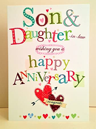 anniversary cards for son and daughter in law