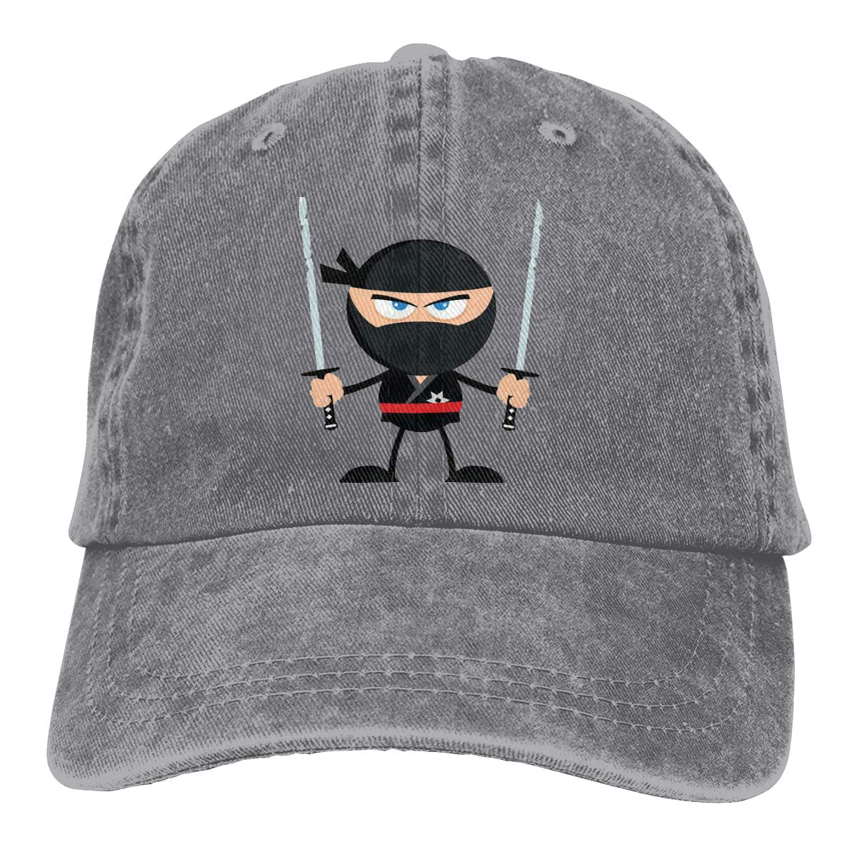 Unisex Vintage Washed Baseball Cap Angry Ninja Warrior with ...