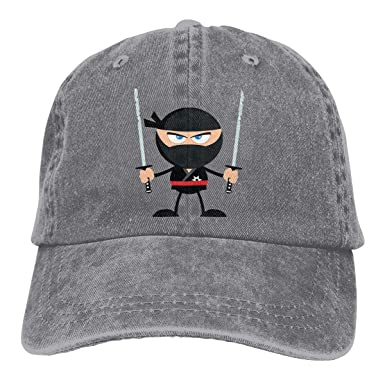 Unisex Vintage Washed Baseball Cap Angry Ninja Warrior with ...