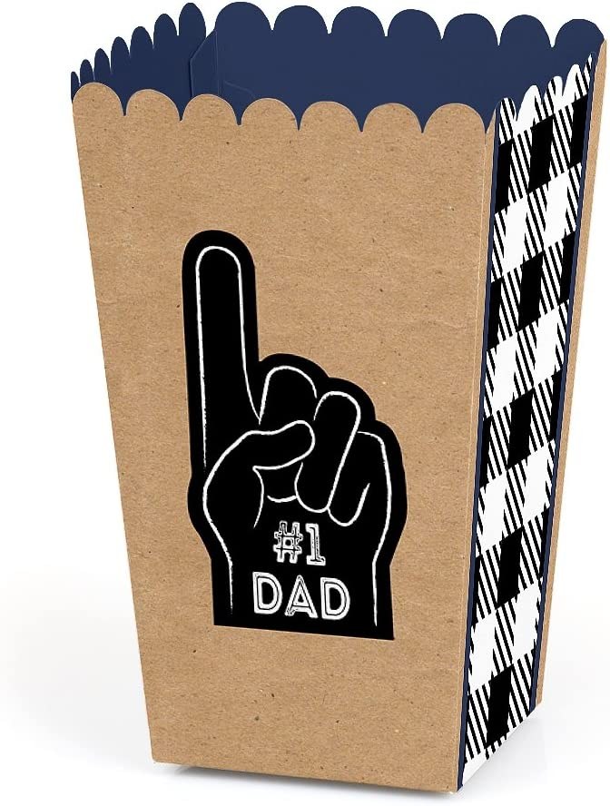 Big Dot of Happiness My Dad is Rad - Father's Day Party Favor Popcorn Treat Boxes - Set of 12