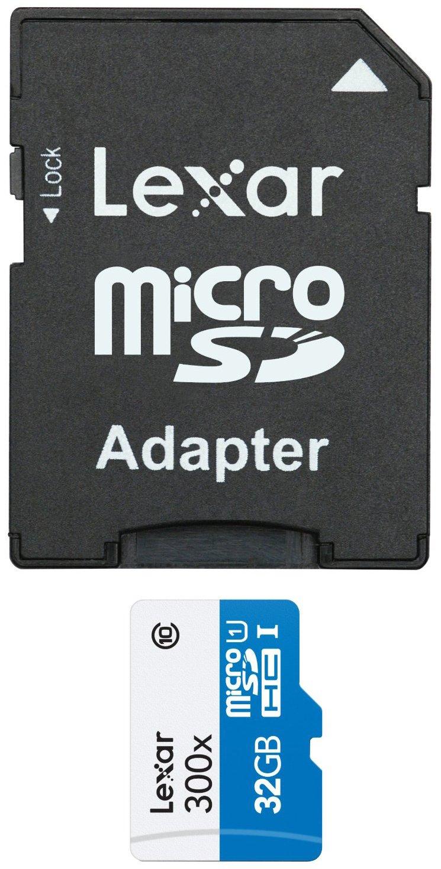Lexar LSDMI32GBBEU300, Tarjeta de memoria microSD de 32 GB (con ...