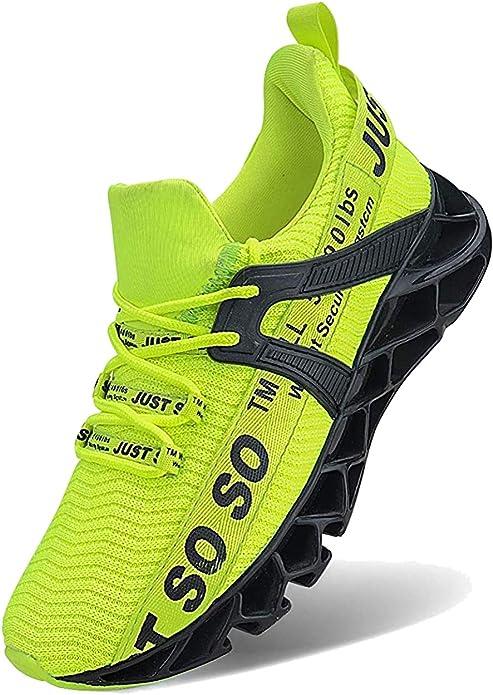 Jsleap Sneakers Herren Damen Unisex Leuchtendes Neon Grün