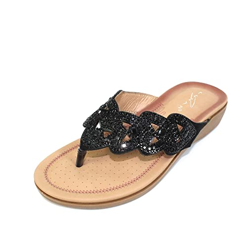 e63263b5f51a Lunar Womens Corrina Toe Post Sandal  Amazon.co.uk  Shoes   Bags