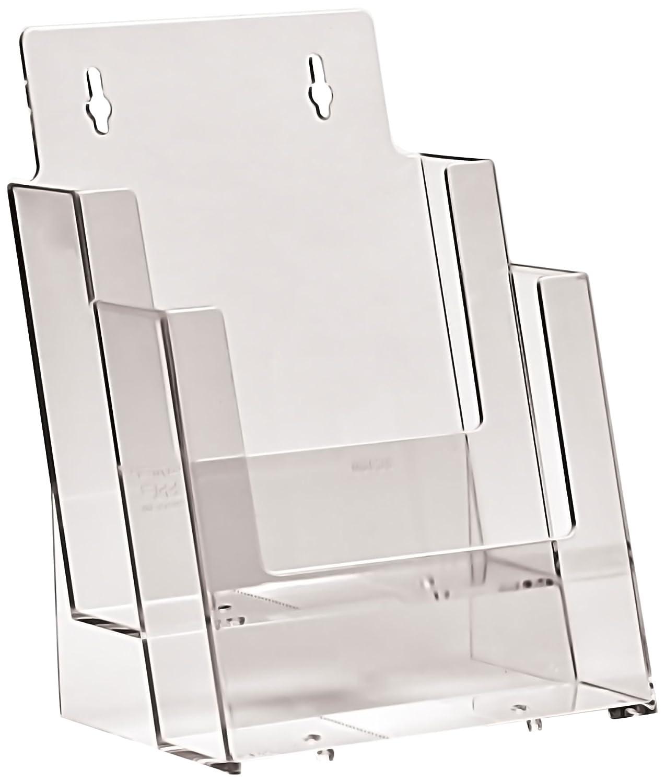 Taymar - Espositore a 2 scomparti, per brochure formato A5, verticale 2C160