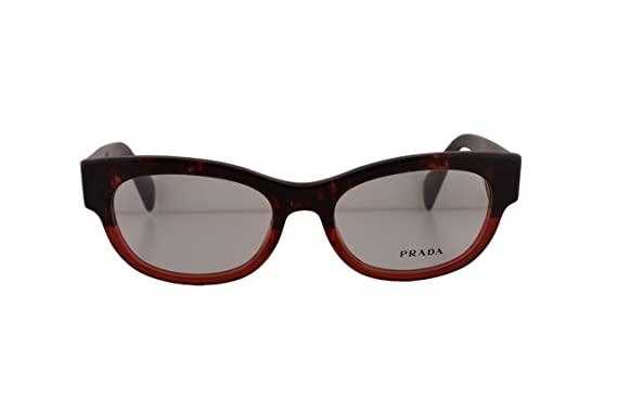 785d5e05ecc7 Prada PR13QV Eyeglasses 52-18-140 Red Havana Gradient RO01O1 VPR13Q For  Women (FRAME ONLY)  Amazon.co.uk  Clothing