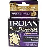 Trojan Condón Piel Desnuda Puntos de Placer, 3 piezas