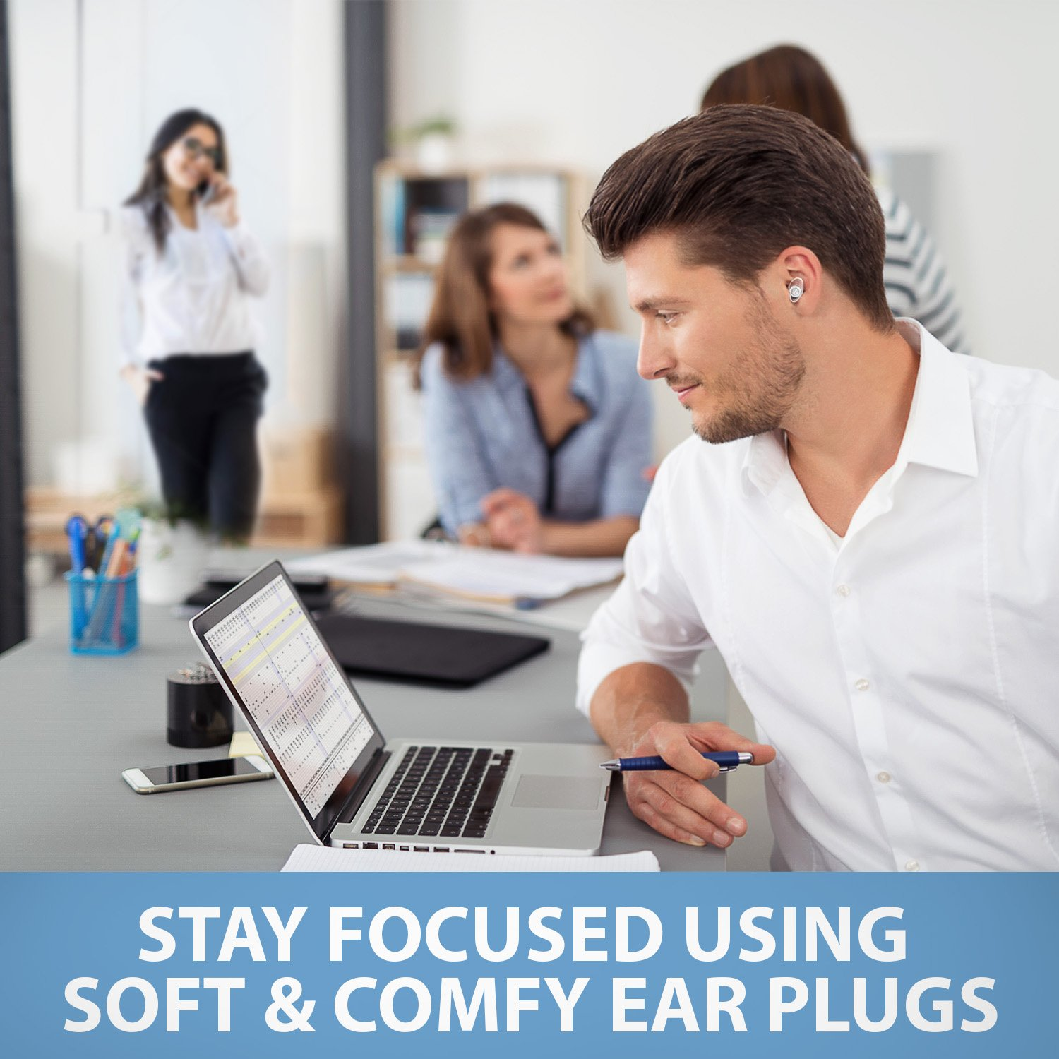 Sound Reducing Professional Ear Plugs - Most Effective Noise Reduction Ear Plugs for Concerts, Work, Sleep and Motorcycle Ear Protection - Soft and Comfortable Reusable Ear Plugs - Earplugs Sleep by Inbound Vibes (Image #6)