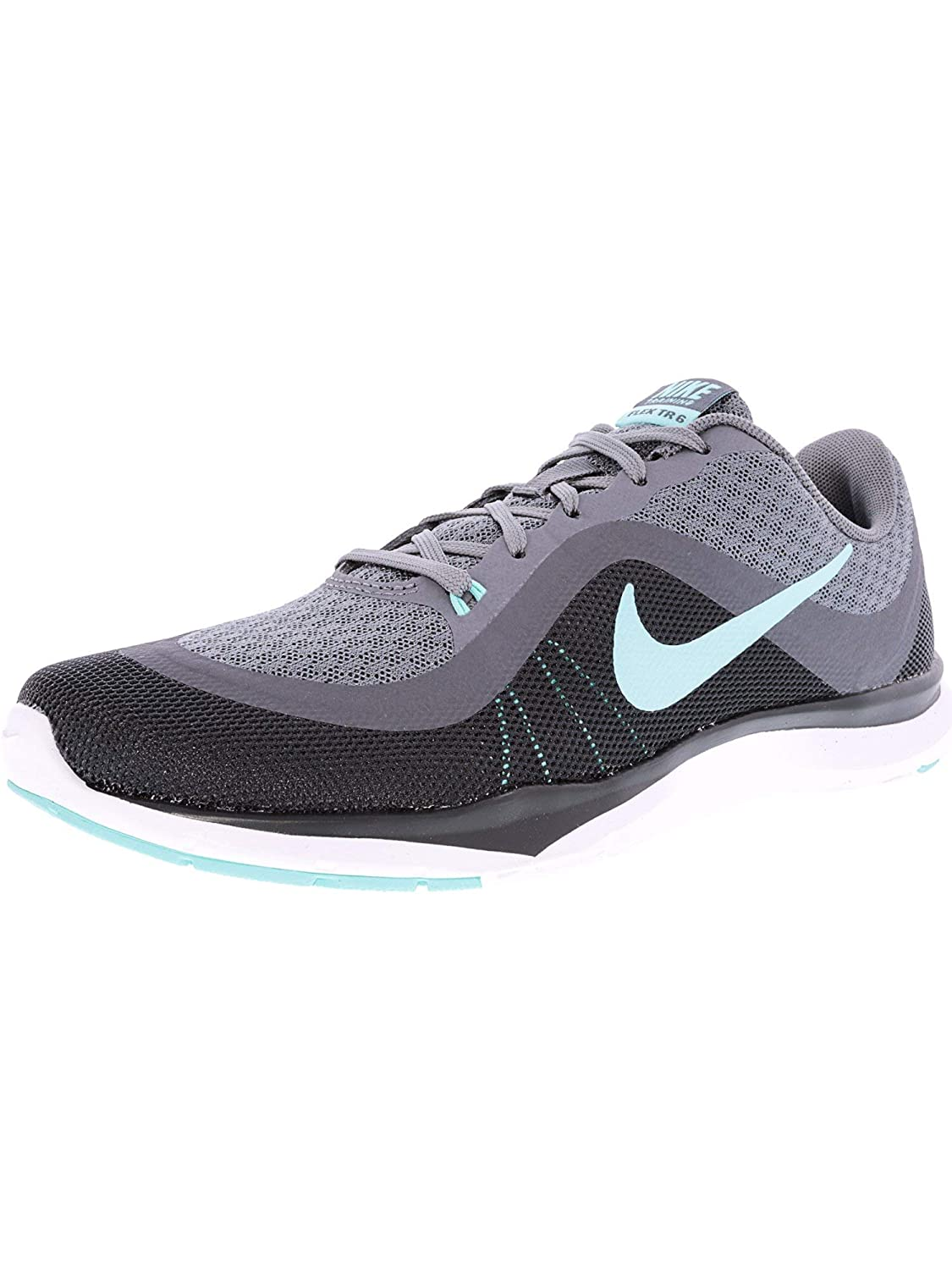 08286927e52f Nike Womens Flex Trainer 6 Training Shoes Cool Grey Hyper Turquoise Dark  Grey 7. 5  Buy Online at Low Prices in India - Amazon.in