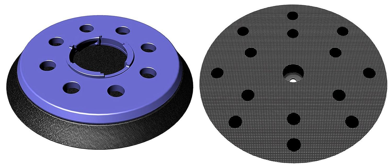 Schleifteller hart für Festool FEQ FastFix Klett-Schleifscheiben Ø 150mm - Stützteller mit 8+6+1-Loch Absaugung - in hart medium und soft verfügbar - DFS