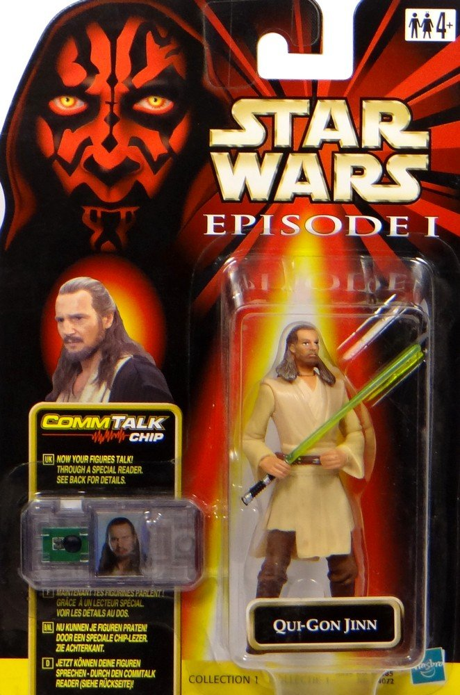 Jedi Master Qui Gon Jinn Commtalk Chip Star Wars Episode I The Phantom Menace Collection Von Hasbro
